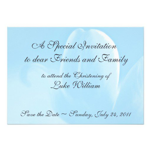 Templates For Baptism Invitations