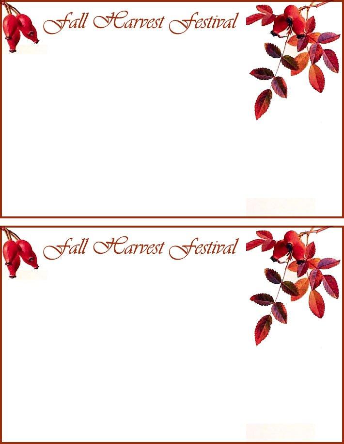Thanksgiving Free Printable Birthday Invitations