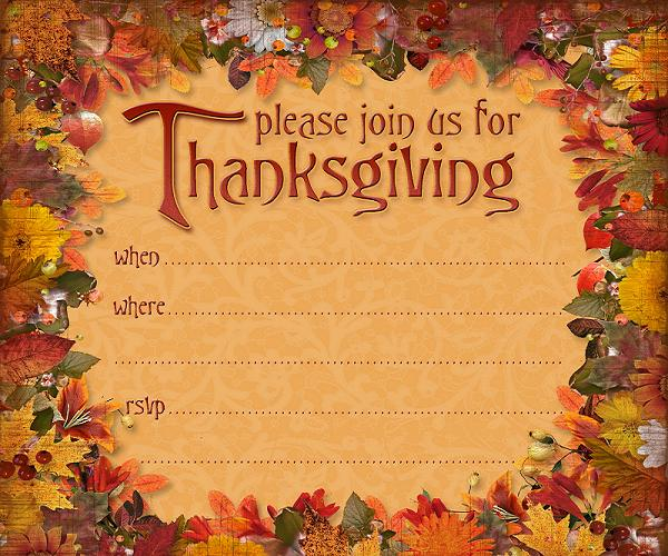 Thanksgiving Work Lunch Invitation Wordings