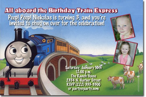 Thomas And Friends Birthday Invitation Wording