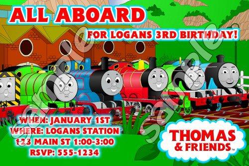 Thomas Birthday Invitations Personalized