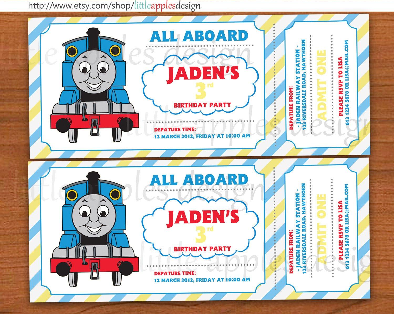 Thomas Birthday Invitations Printable
