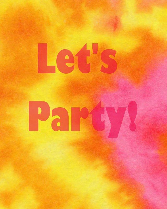 Tie Dye Invitations Printable Free