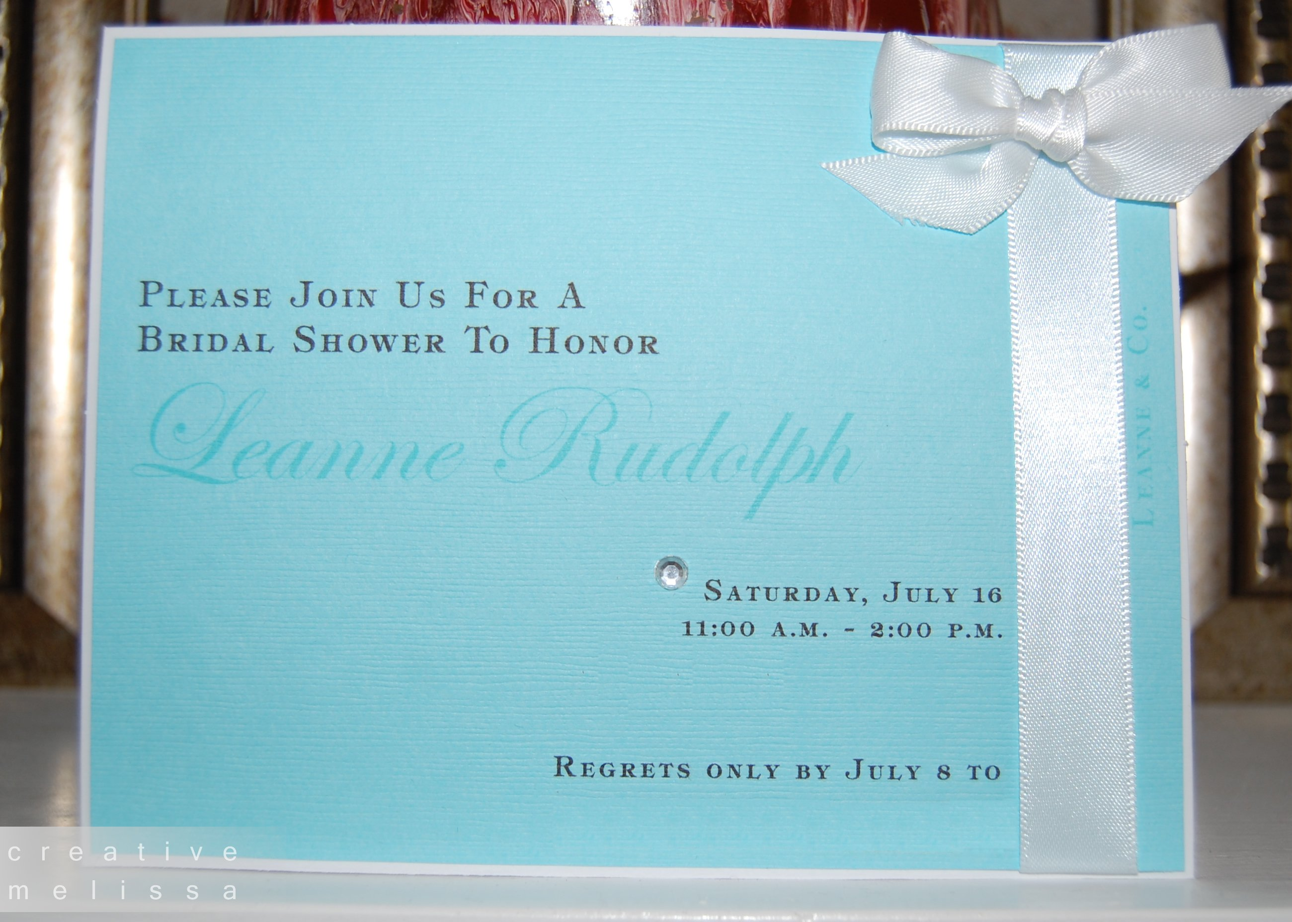 Tiffany And Co Invitation Templates