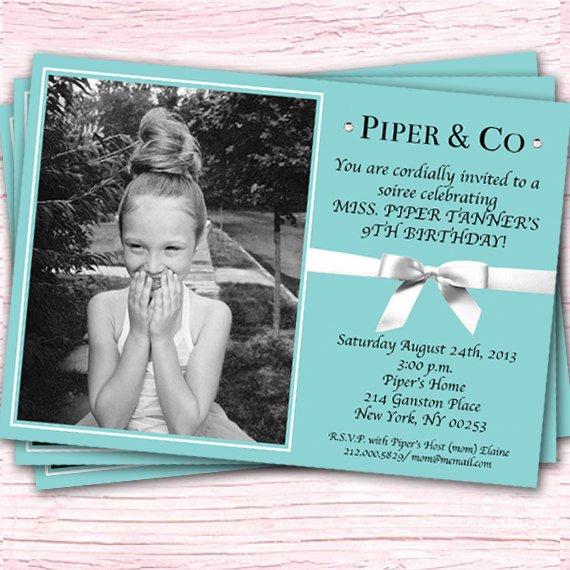 Tiffany Themed Party For Keira S 18th Birthday: Tiffany And Co Invitations