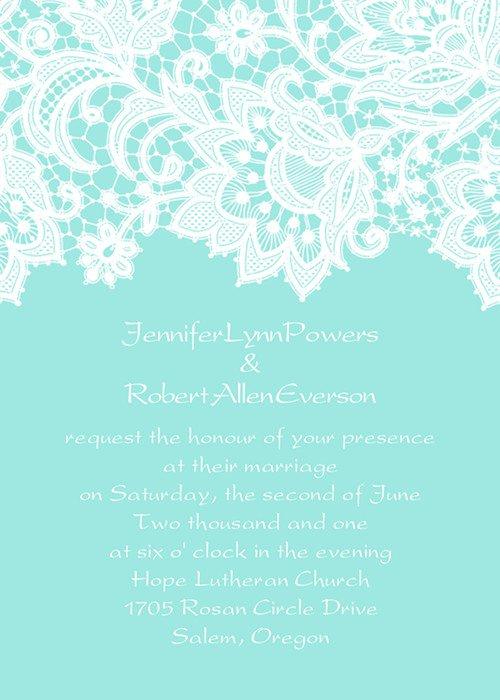 Tiffany Blue Wedding Invitations Cheap