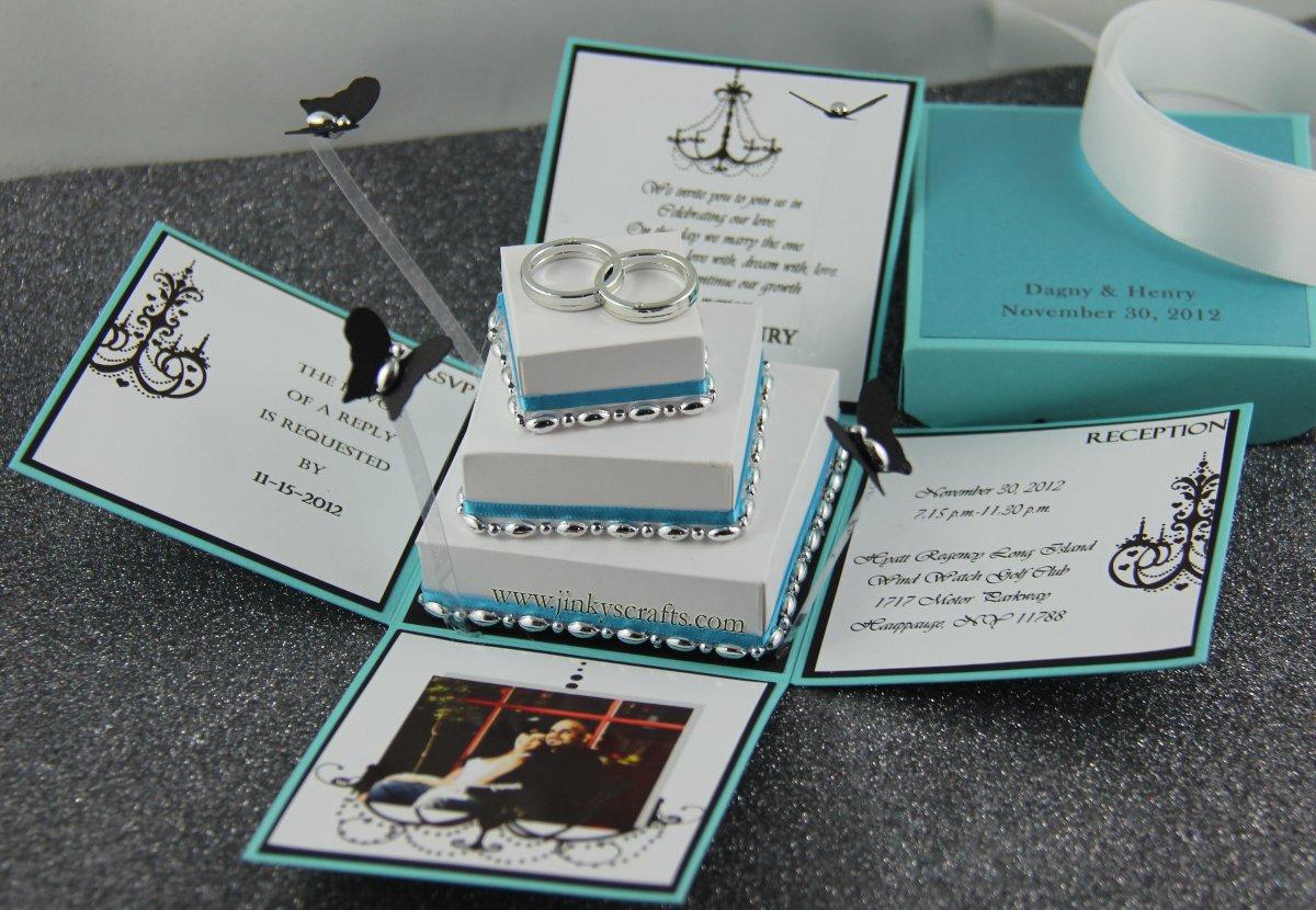 Tiffany Style Wedding Invitations
