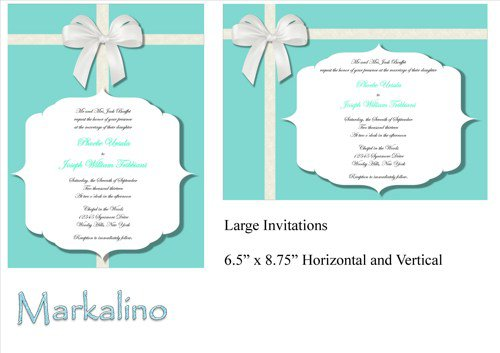 Tiffany Wedding Invitation Template