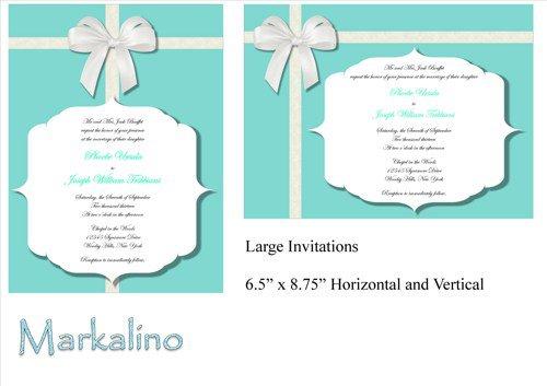 Tiffany Wedding Invitation Template