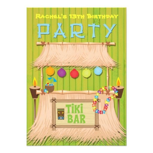 Tiki Party Invitations