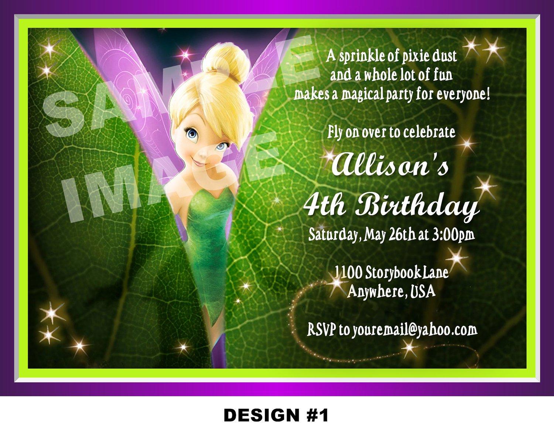 Tinkerbell 1st Birthday Invitation Wording