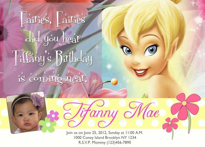 Birthday Invitations – Tinkerbell Birthday Invitations