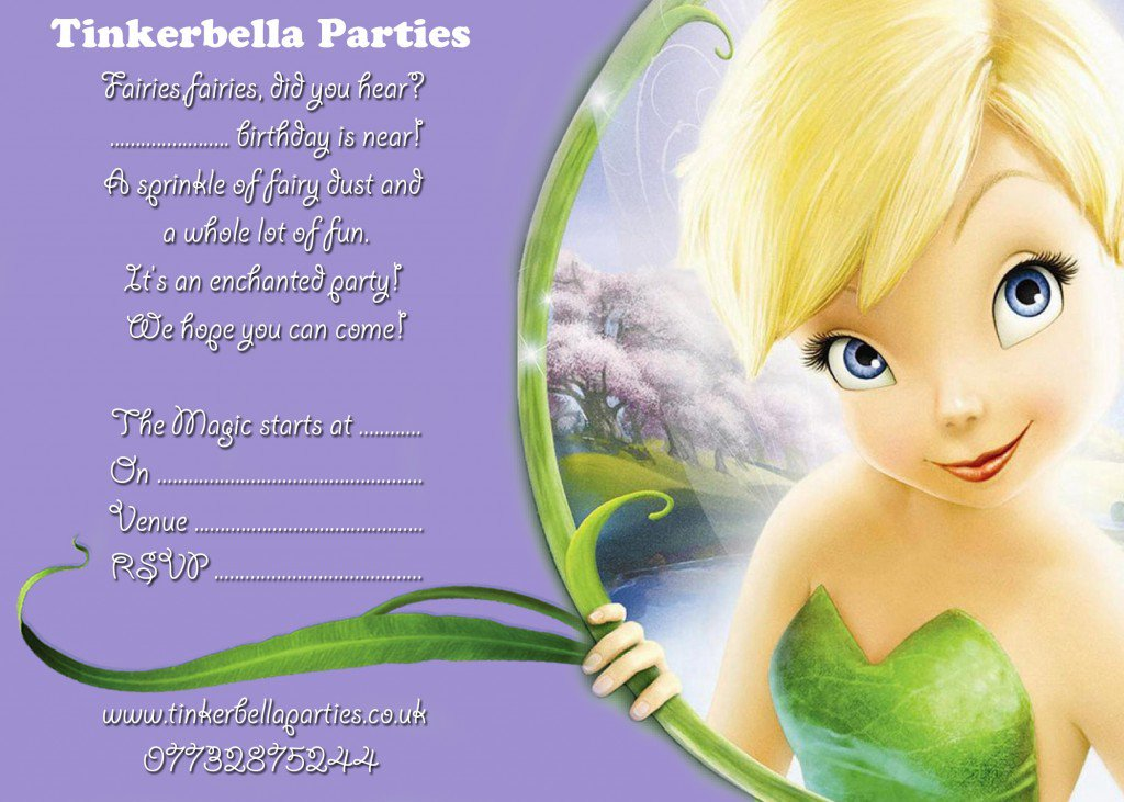 Tinkerbell Pirate Fairy Invitations
