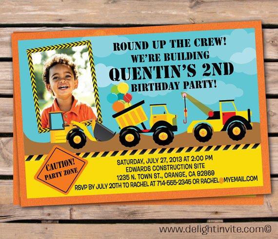 Tonka Birthday Party Invitations
