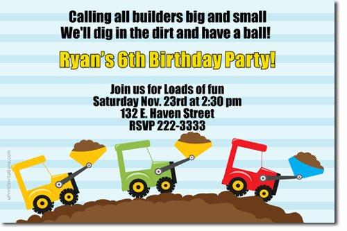 Tonka Truck Birthday Invitations
