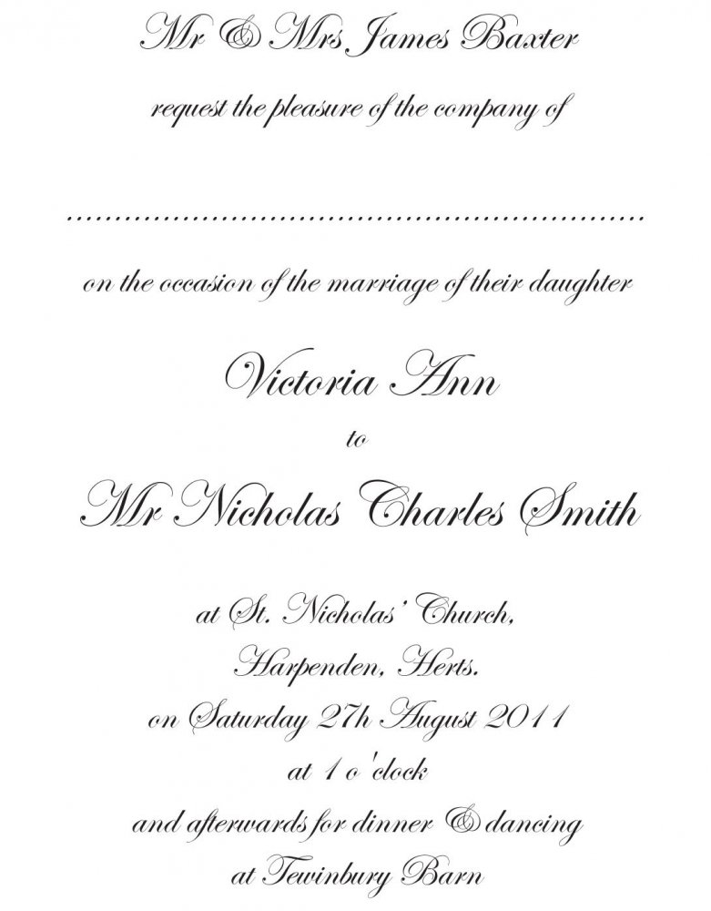 Traditional Wedding Invitation Templates Free