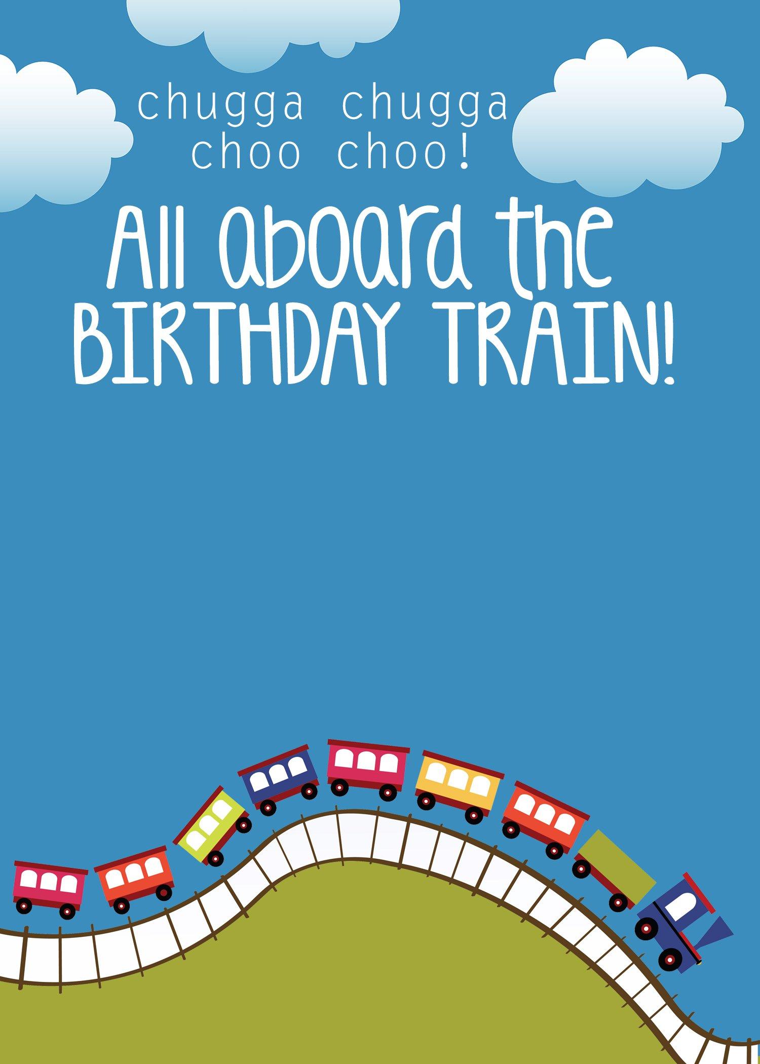 Train Birthday Invitation Template