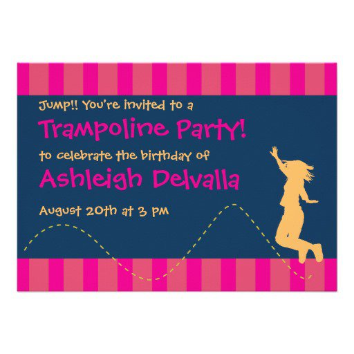 Trampoline Party Invitations
