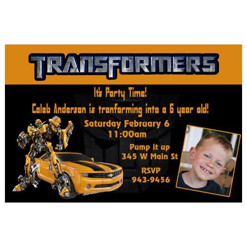 Transformer Birthday Invitation Templates