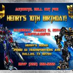 transformers printable birthday invitations, Birthday invitations