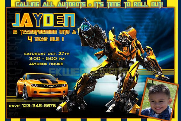 transformers party invitations blank printable