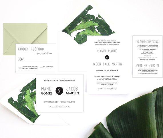 Tropical Wedding Invitation Wording