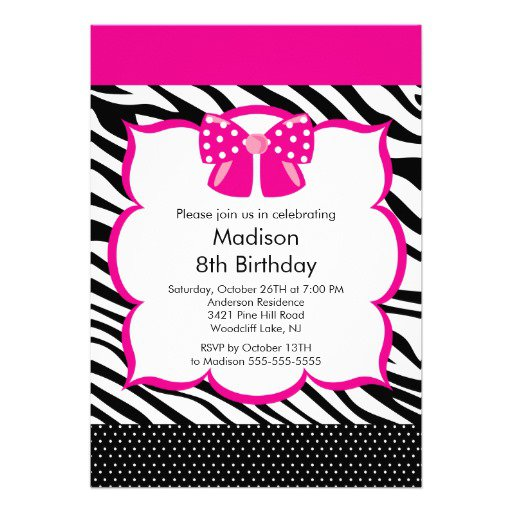 Tween Birthday Party Invitations