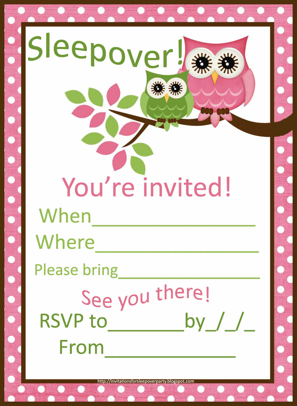 Tween Party Invitations