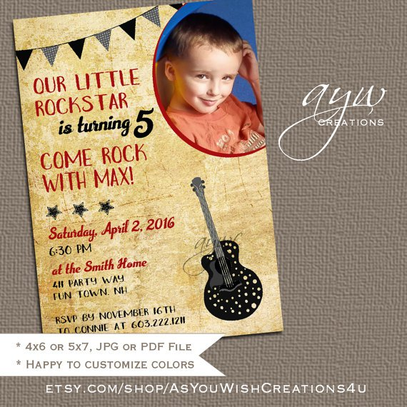Tween Party Invitations Rustic