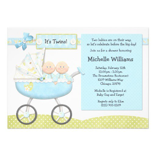 Twin Baby Shower Invitation Maker