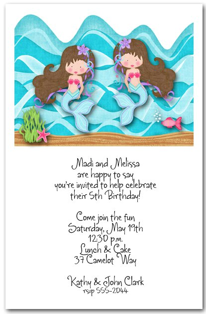 Twin Birthday Party Invitations