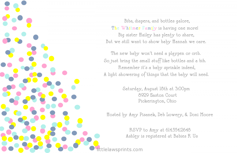 Twin Boy And Girl Baby Shower Invitation Wording