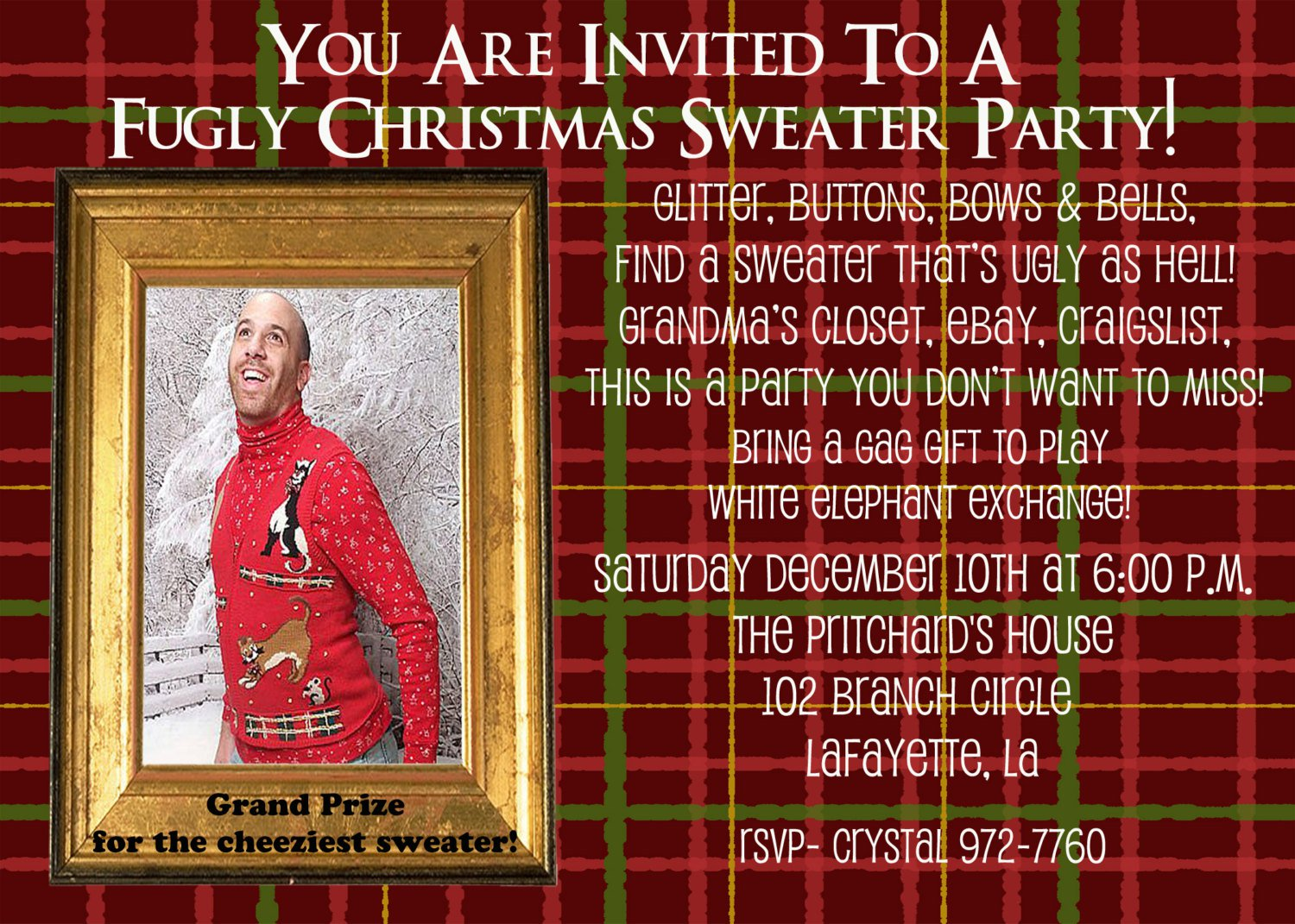 Ugly Sweater Party Invitation Sayings