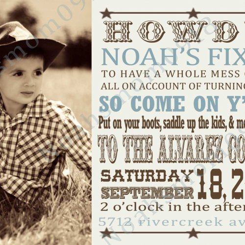 Unique Cowboy Invitations