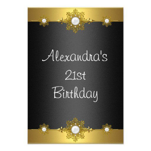 Unique Elegant Birthday Invitations