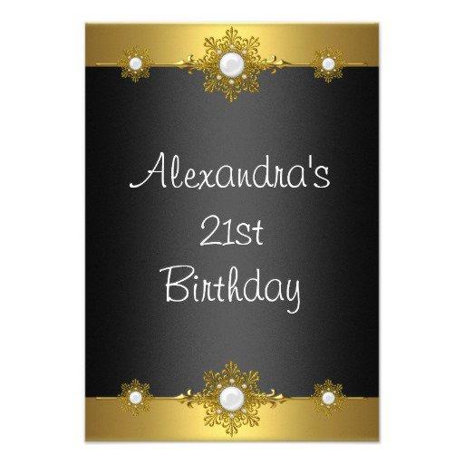 Unique Elegant Birthday Invitations