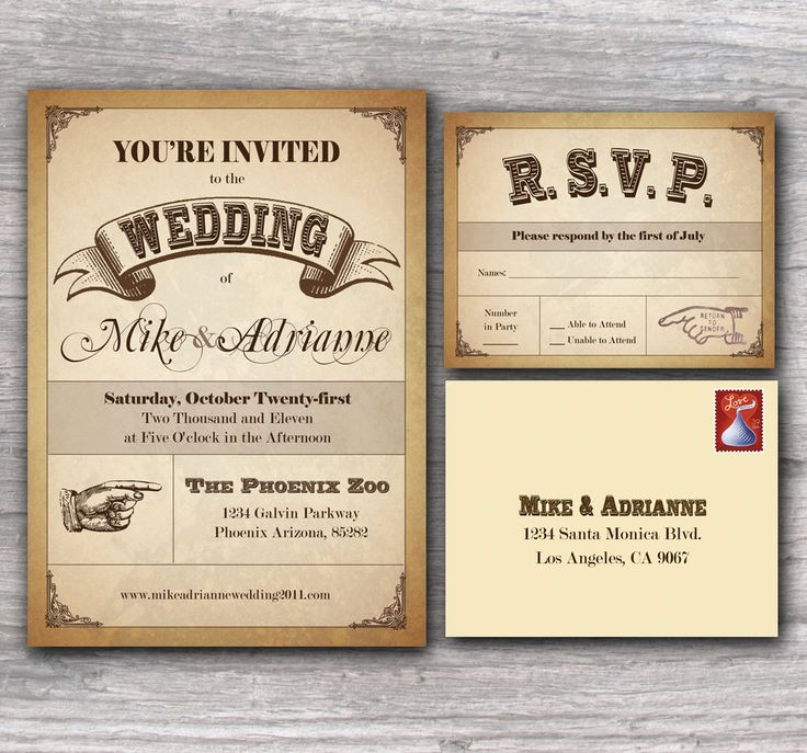 Unique Western Wedding Invitations
