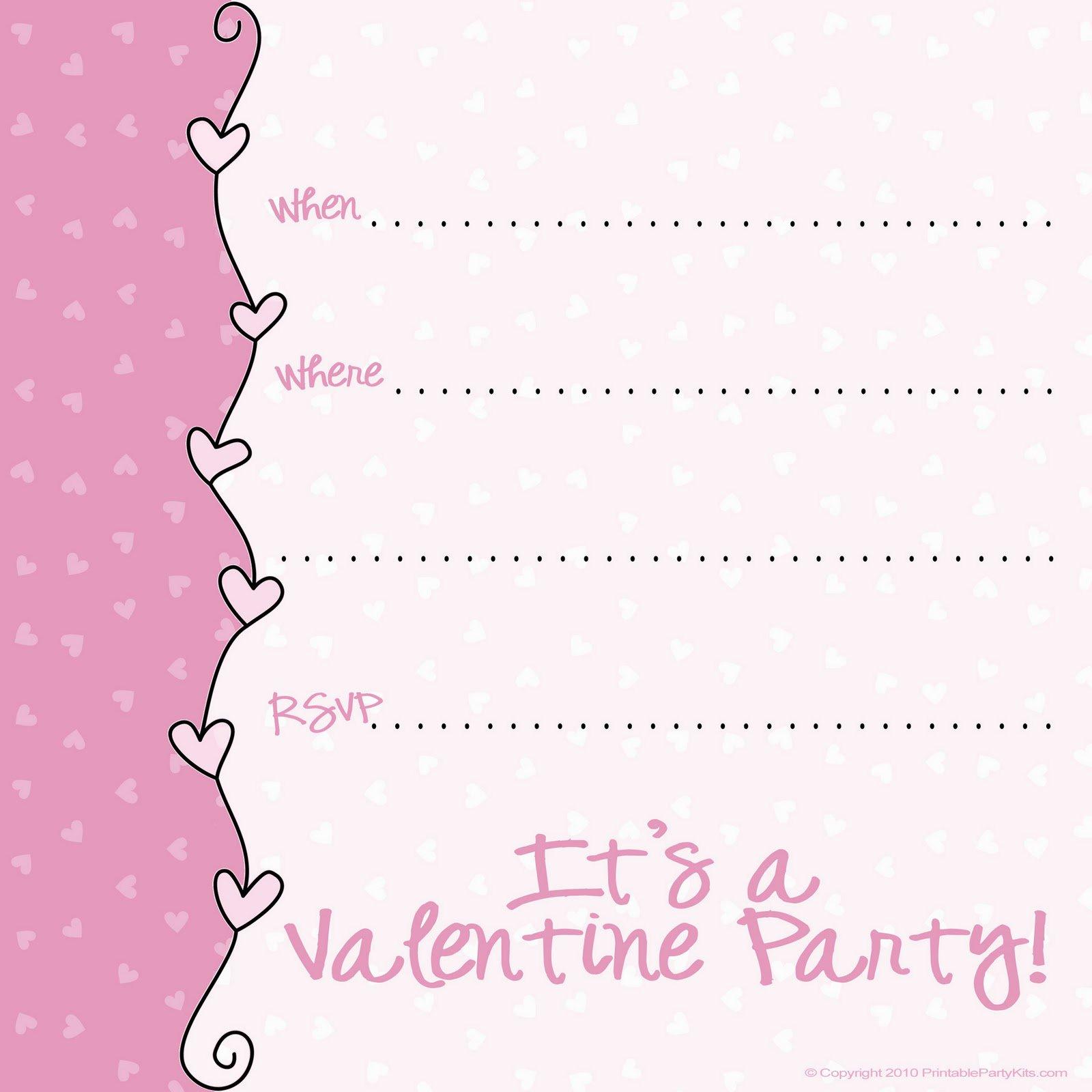 valentine invitation templates. Black Bedroom Furniture Sets. Home Design Ideas
