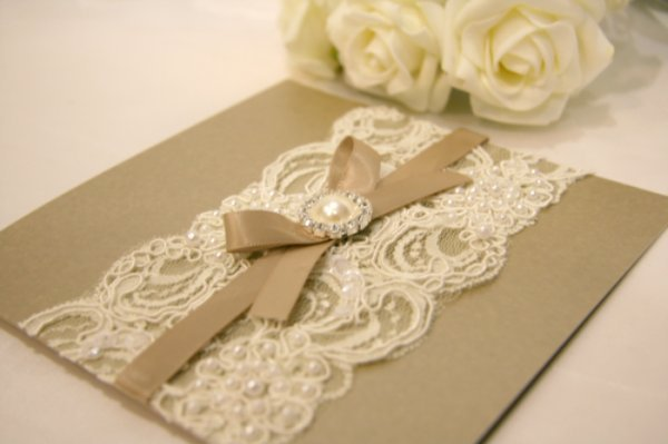 Vintage Lace Wedding Invitation Cards