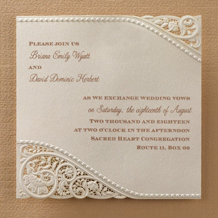 Vintage Lace Wedding Invitation Sets