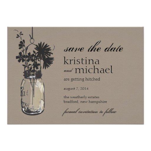 Vintage Mason Jar Invitations