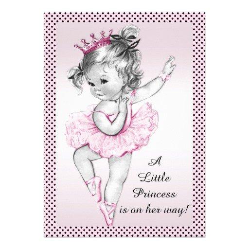 Vintage Princess Baby Shower Invitations