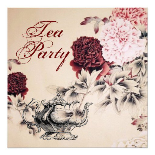 Vintage Tea Party Invitations Free