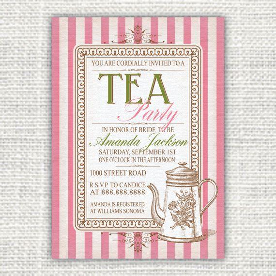 Vintage Tea Party Invitations Printable