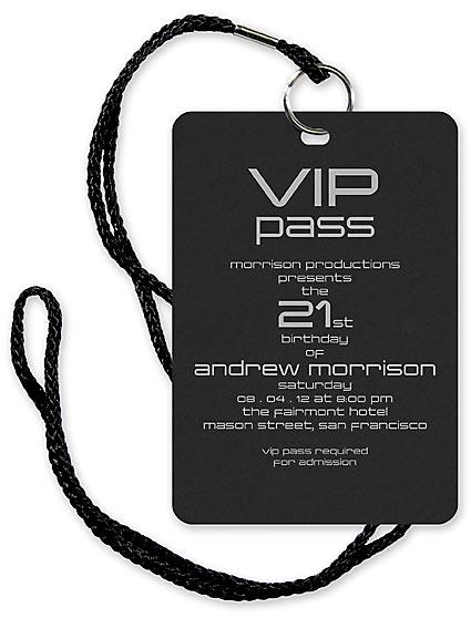 Vip Party Invitation Sample