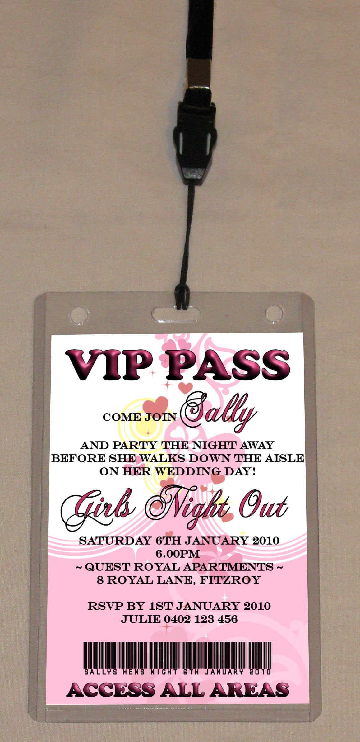 Vip Party Invitation Wording
