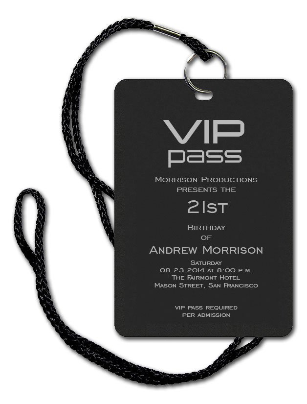 Vip Pass Invitation Templates Blank