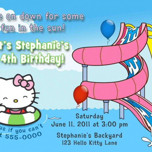 Water Park Birthday Party Invitations