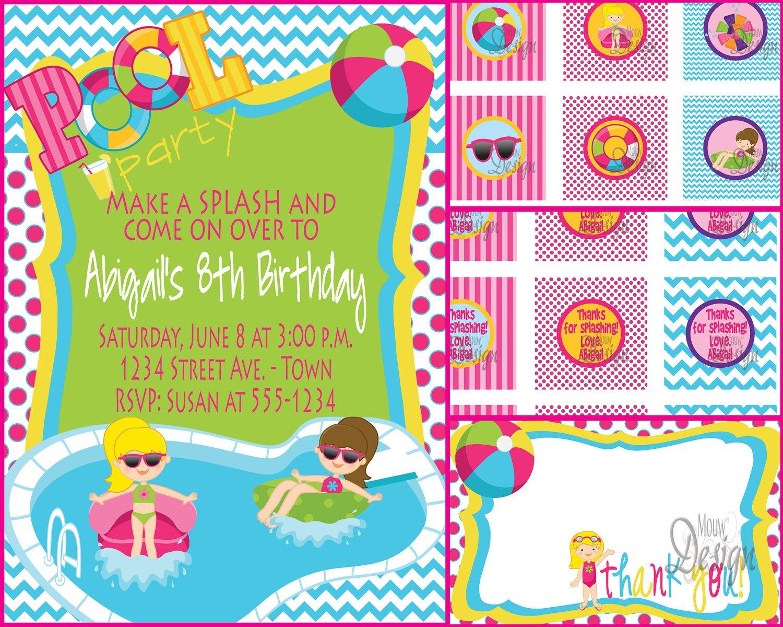 Park Invitation Templates Blank – Water Park Party Invitations