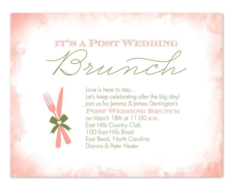 Wedding Brunch Invitation Wording Day After